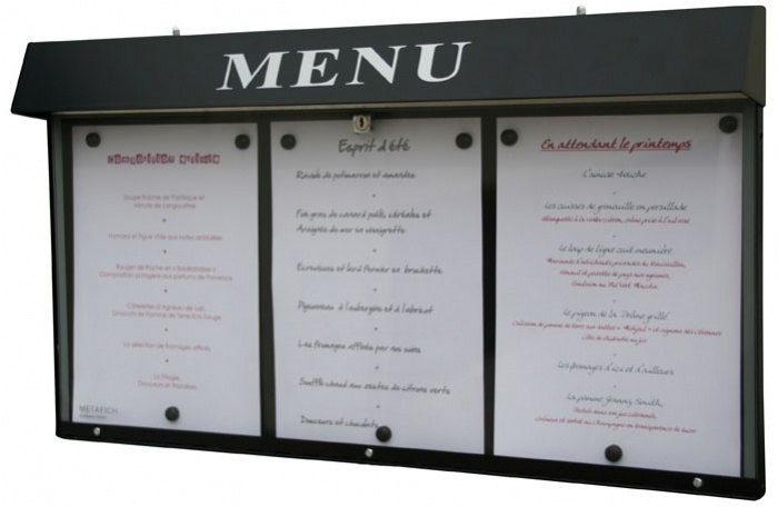 Porte menu non lumineux jupmc001 for Porte menu exterieur restaurant