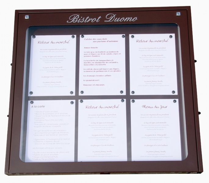 Porte menu lumineux mural jupmlu001 for Porte menu exterieur restaurant